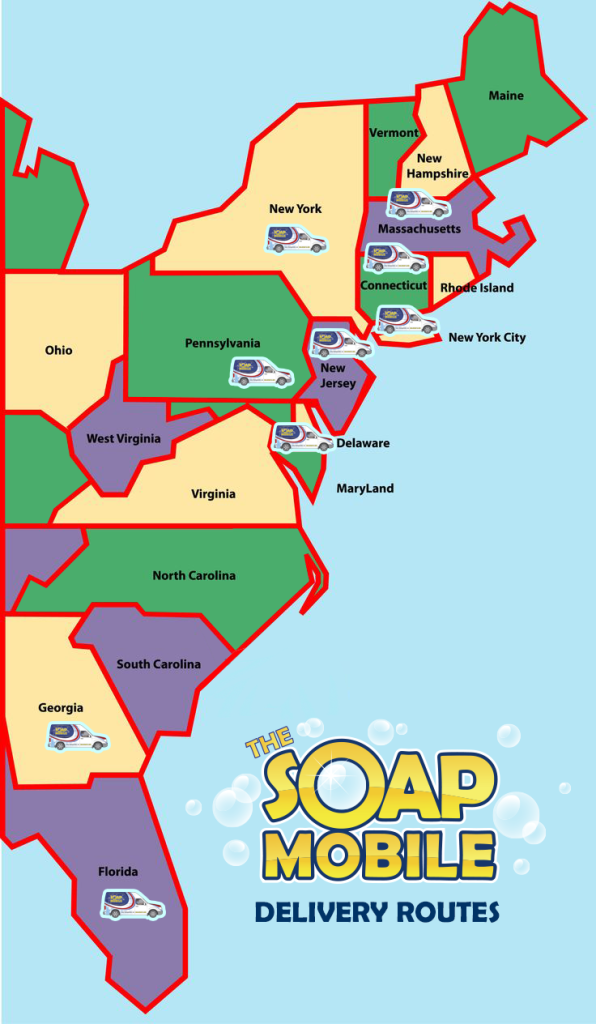 the soap mobile delivery routes